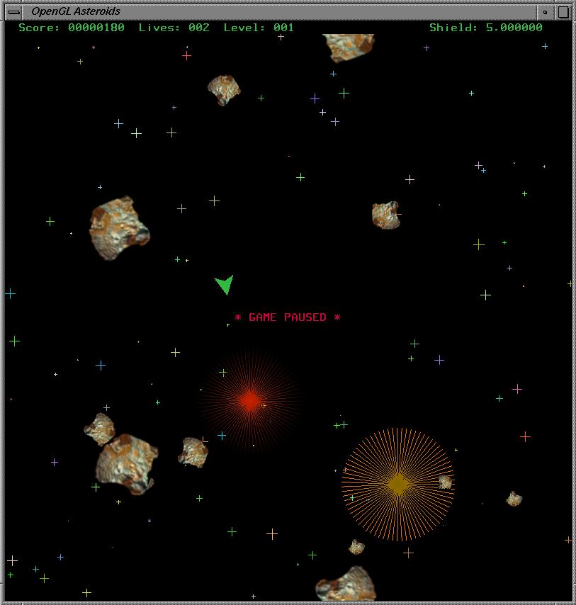 OpenGL Asteroids